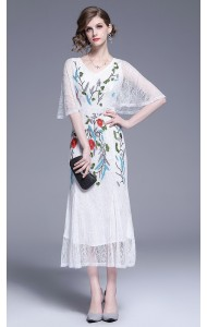 BDS0617268X Embroidery mermaid cape dress REAL PHOTO