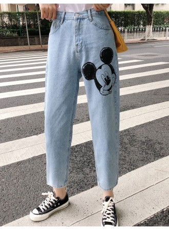 KPT061965191T Printed mickey jeans REAL PHOTO