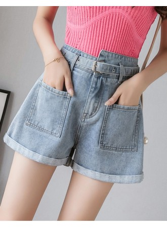 KPT06197589L High waisted asymmetric jeans REAL PHOTO