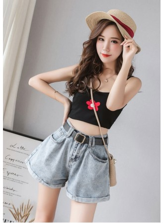KPT0621508AS High waisted short jeans REAL PHOTO