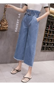 KPT06275086J Ruffle denim pants REAL PHOTO