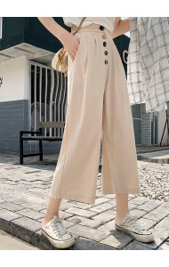 KPTS0703911A Button high waisted culotte REAL PHOTO