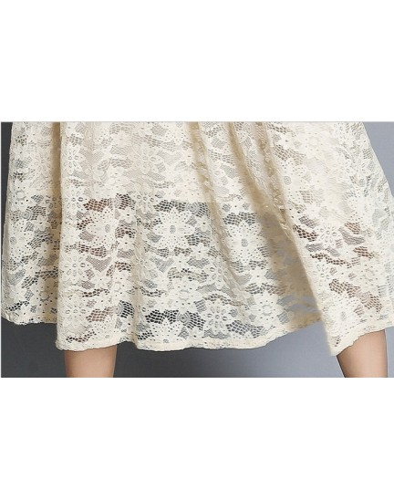 BDS07046135X Full lace hallow dress REAL PHOTO