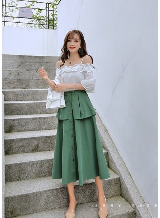 KSK07089909B Layer A line skirt REAL PHOTO