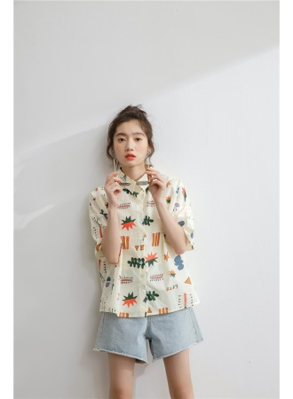 KTP07099379Y Printed girl shirt REAL PHOTO