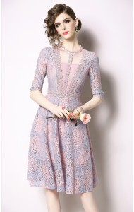 BDS07115466X Lace skater dress REAL PHOTO