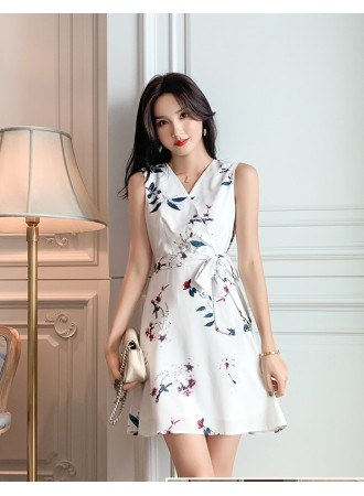 KDS07115635Y Flower wrap dress REAL PHOTO