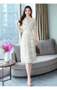KDS07126088Y Pleated floral bow dress REAL PHOTO