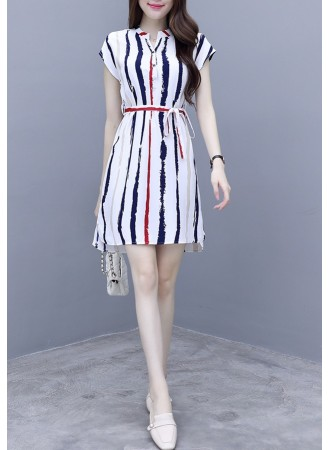 KDS0714168T Stripes dress REAL PHOTO