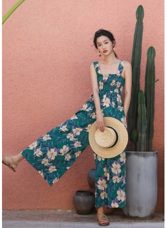 KJP07167005B Floral jumpsuit REAL PHOTO