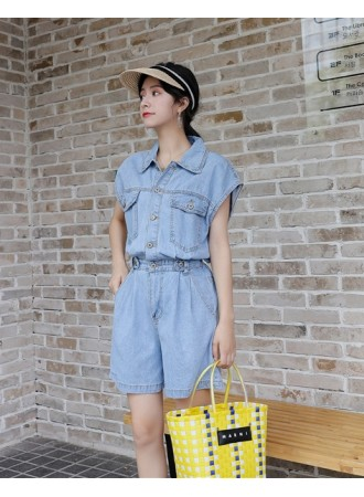 KJP07161525M Denim jumpsuit REAL PHOTO