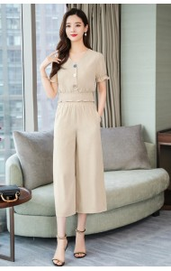 KST07162193B Puff sleeves pants set REAL PHOTO
