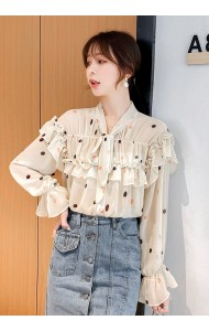 KTP07173398Q Chiffon dotted bow blouse REAL PHOTO