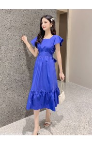KDS07200719M Bareback ruffle sleeves dress REAL PHOTO