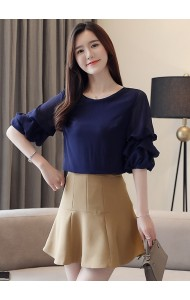 KTP07217629H Puff sleeves blouse REAL PHOTO