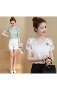 KTP0721813S Hollow back full lace blouse REAL PHOTO