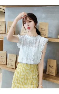 KTP07215049S Ruffle sleeves lace blouse REAL PHOTO