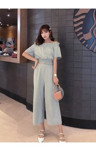 KST07268306D Off shoulder pants set REAL PHOTO
