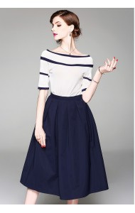 BST07313459H Knit top pleated skirt set REAL PHOTO