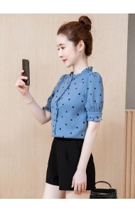 KTP08058389M Polka chiffon blouse REAL PHOTO