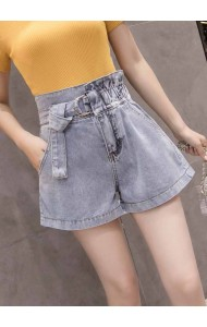KPT08060903H Drawstring denim shorts REAL PHOTO