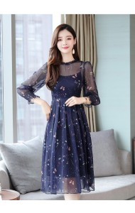 KDS08077388Y Butterfly chiffon dress REAL PHOTO