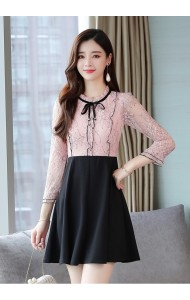 KDS08078388Y Lace ruffle dress REAL PHOTO