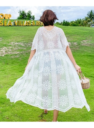 KDS08078901K Embroidery lace cardigan REAL PHOTO