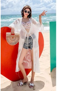 KDS08088011K Heart shape embroidery lace cardigan REAL PHOTO
