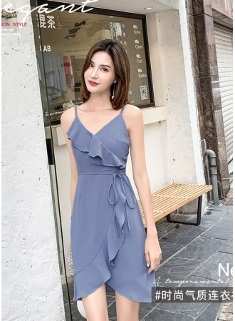 KDS08132535T Strappy ruffle dress REAL PHOTO