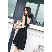 KDS08133025T Bare back bow dress REAL PHOTO