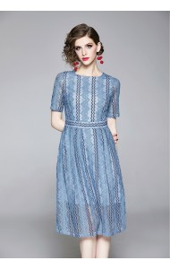 BDS08176178Y Full lace blue dress REAL PHOTO