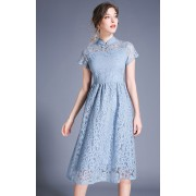 BDS08179078Y Full lace cheongsum dress REAL PHOTO