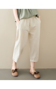KPT10017029W Linen roll up pants REAL PHOTO