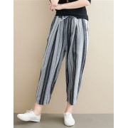 KPT10013429W Stripes linen halem pants REAL PHOTO