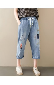 KPT10013029W Plus size embroidery jeans REAL PHOTO