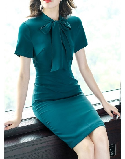 KDS10029037M OL dress with bow REAL PHOTO
