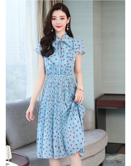 KDS10032178Y Polka dress with bow REAL PHOTO