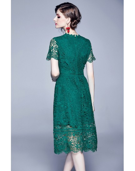 BDS10060419H Crochet lace dress REAL PHOTO