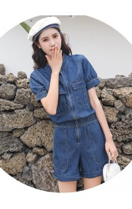 KJP1013127H Puff sleeves jumpsuit REAL PHOTO