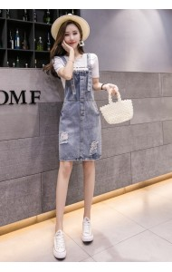 KSK10146103X Denim jumpsuit dress REAL PHOTO