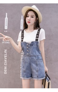 KJP1014392H Cute denim jumpsuit REAL PHOTO