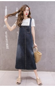 KJP1014312H Plus size denim jumpsuit REAL PHOTO