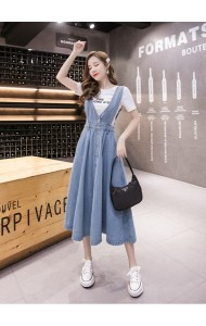 KJP1014683H Denim jumpsuit dress REAL PHOTO
