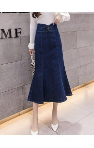 KSK1014102H Mermaid denim skirt REAL PHOTO