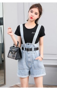 KJP1014382H Belted jumpsuit with t shirt set REAL PHOTO