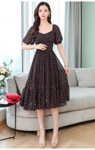 KDS10167989Y Florrie puff sleeves dress REAL PHOTO
