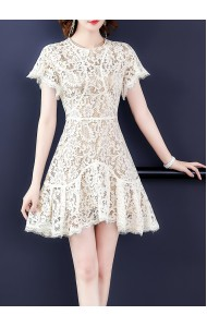 KDS10230711Y Full lace ruffle dress REAL PHOTO