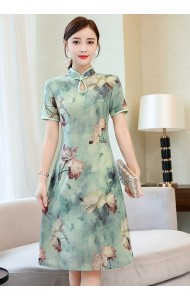 KDS10245628Y Plus size floral cheongsum REAL PHOTO