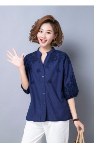 KTP09253288J Plus size embroidery shirt REAL PHOTO